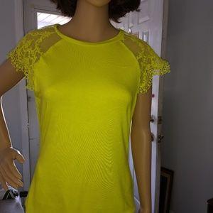 Bisou Bisou lime green shirt